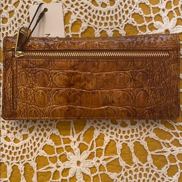 Brahmin Ady Tamarind Melbourne Leather Bi-fold Lightweight Wallet NWT $115